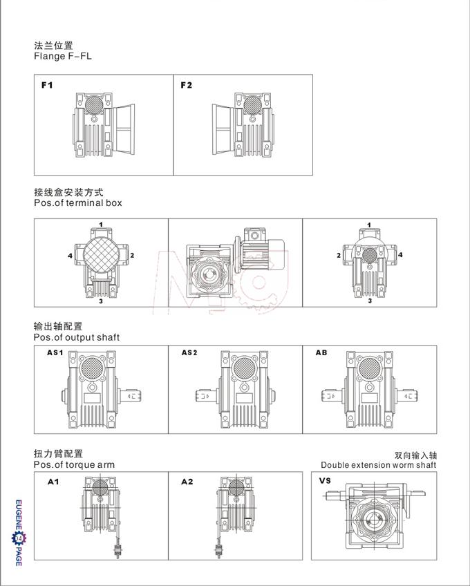NRV蜗轮蜗杆减速机尺寸