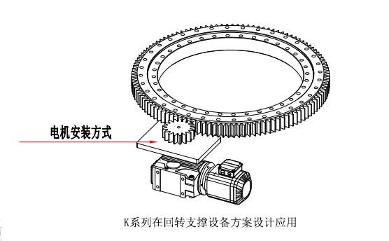 回转支撑上的k系列螺旋锥齿轮减速机方案设计